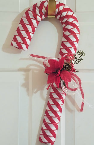 Candy Cane Door Wreath