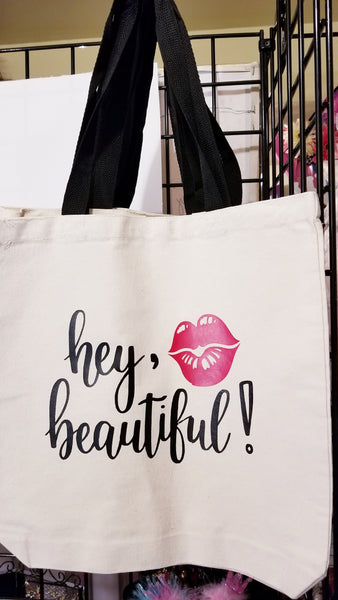 Hey Beautiful Tote Bag