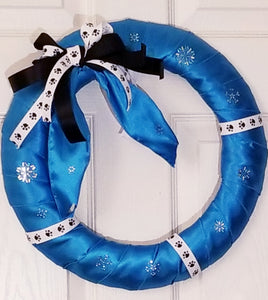 Panthers Winter Wreath 14""