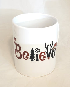 Believe Christmas Ceramic Mug