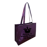 Being A Black Girl Is Lit Metallic Tote Bag