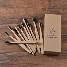 Load image into Gallery viewer, Eco Friendly Bamboo Soft BristleTip Charcoal Toothbrush