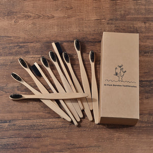 Eco Friendly Bamboo Soft BristleTip Charcoal Toothbrush