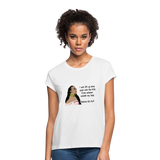 Women's Relaxed Fit T-Shirt Psalms 121:1 - white