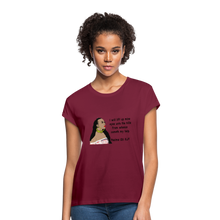 Load image into Gallery viewer, Women's Relaxed Fit T-Shirt Psalms 121:1 - burgundy