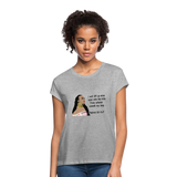 Women's Relaxed Fit T-Shirt Psalms 121:1 - heather gray