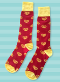 Chapulin Colorado socks - CH heart - Red