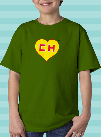 EL CHAPULIN COLORADO HEART T-SHIRT (KIDS)