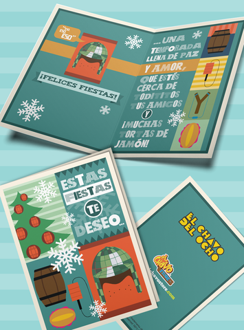 Greeting Cards - Chavo Felices Fiestas Holidays