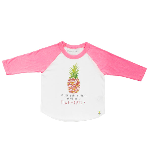 fine-apple raglan pink