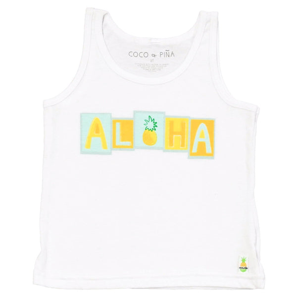 aloha blocks tank (non ribbed)