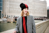 Ribbed Red Cashmere Hat