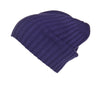 Reversible Slouchy Teal Cashmere Hat with Lilac Heart