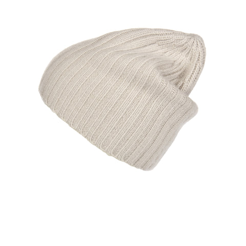 Pearl Stitched Light Blue Cashmere Hat