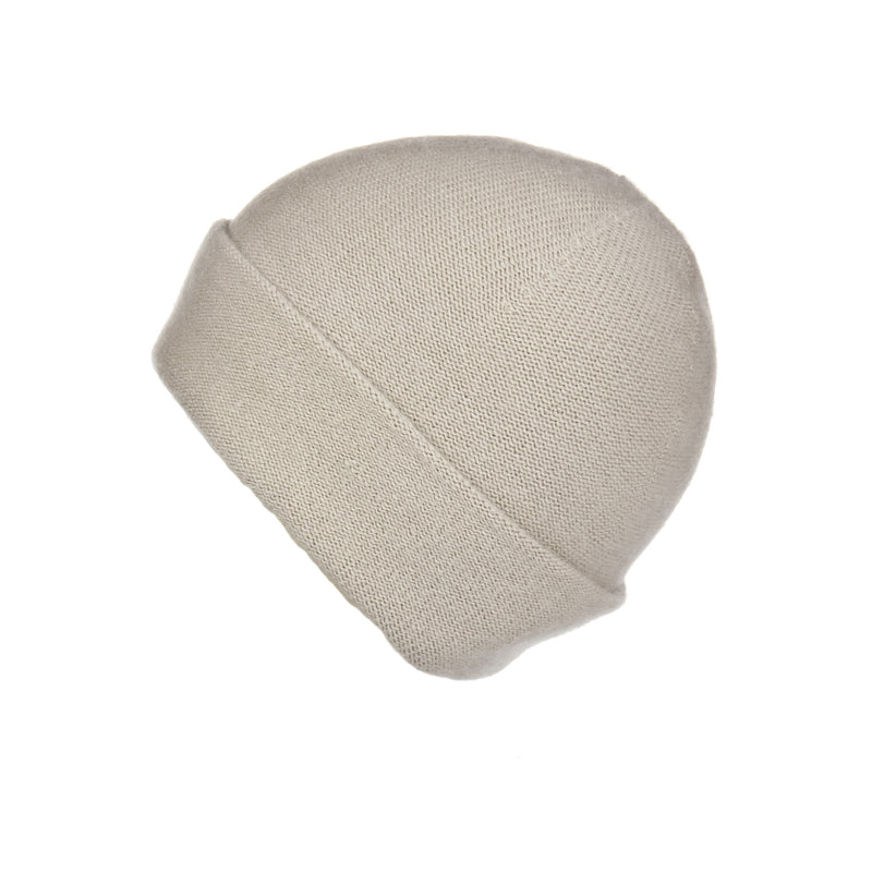 Reversible Slouchy Sand Cashmere Hat, Hat - Loveknitz