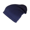 Reversible Slouchy Blue and Red Striped Cashmere Hat