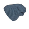 Ribbed Navy Cashmere Hat