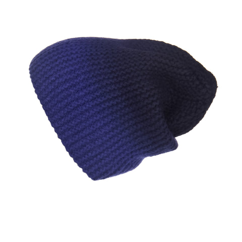 Ribbed Purple Cashmere Hat