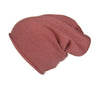 Reversible Slouchy Rose Cashmere Hat with Pink Heart