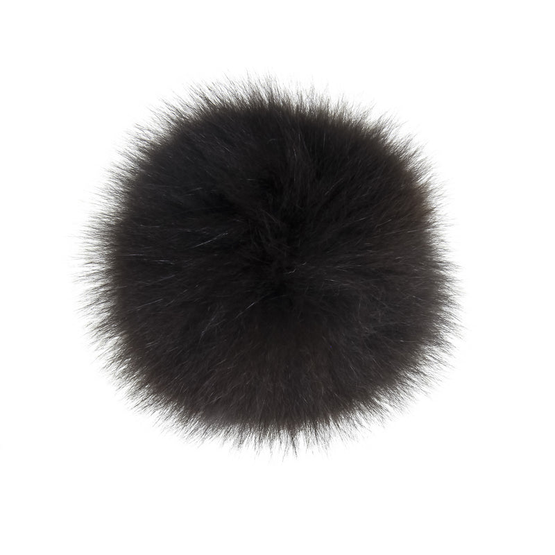 Brown Fur Pom-Pom, Poms - Loveknitz
