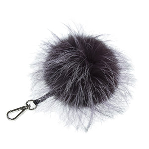 Fancy Lilac Key and Purse Chain Pom-Pom , KEYCHAIN FUR POM - Loveknitz