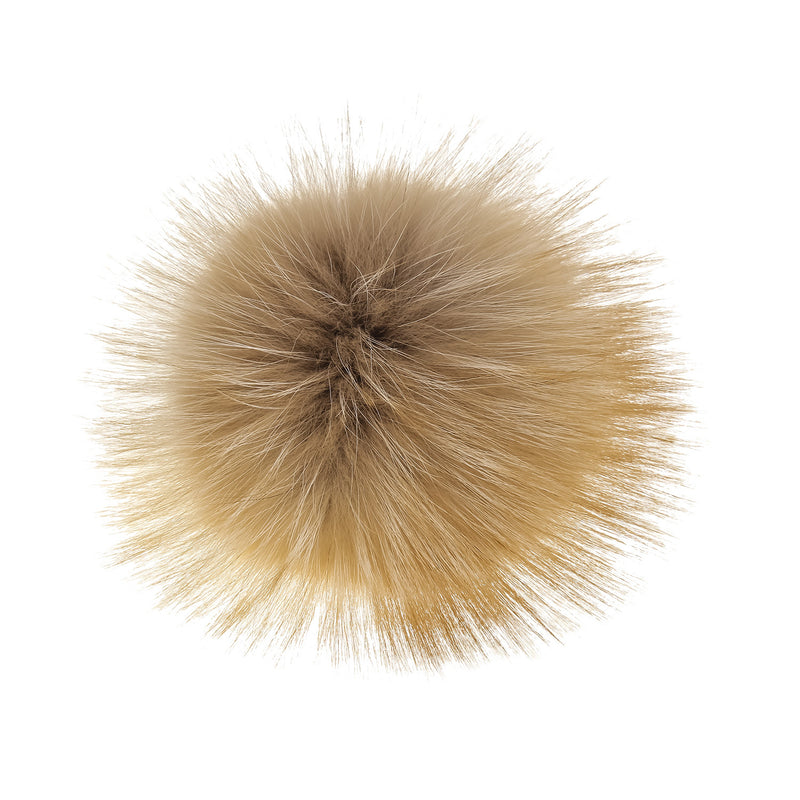 Light Caramel Fur Pom-Pom, Poms - Loveknitz