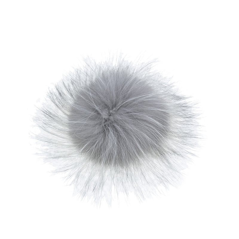 Light Grey Fur Pom-Pom, Poms - Loveknitz