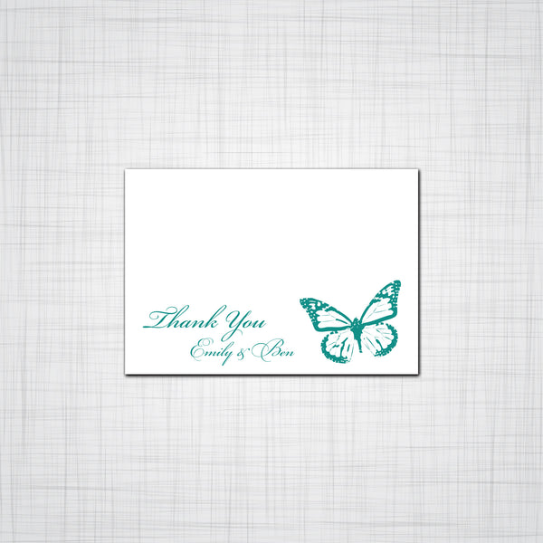 Butterfly Wedding Invitation, Butterfly Event Invitation, Response Cards, Thank you Cards