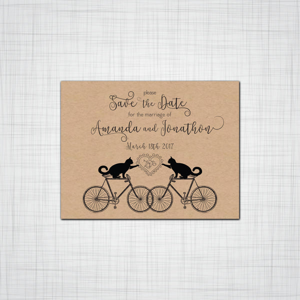 Cats on Bikes Save the Dates