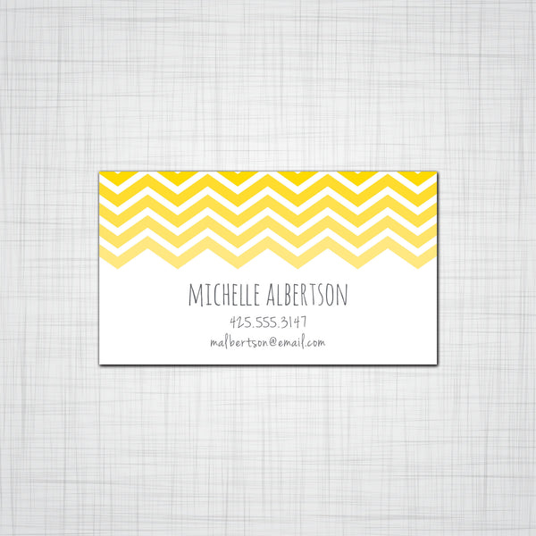 Chevron Calling Cards, Business Cards