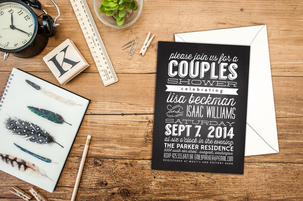 Couples Shower - Pink Lily Press