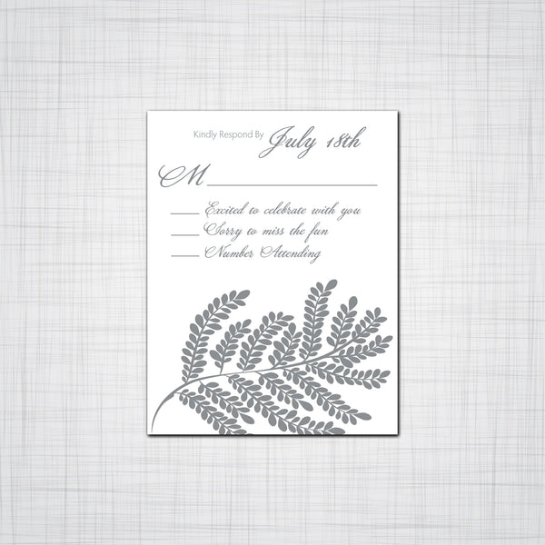 Leafy Fern Wedding Invitation Suite, Event Invitations