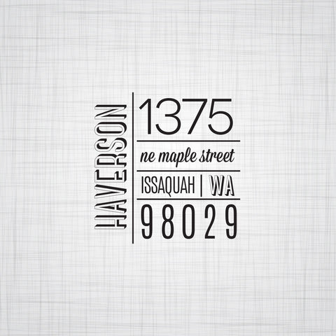 Address Stamps - Pink Lily Press