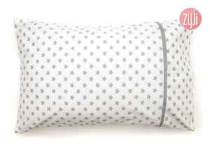 Cutie Stars White Toddler Pillowcase