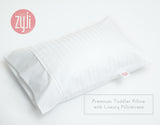 Luxury White Toddler Pillowcase