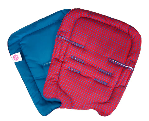 Red Blue Dots Stroller Pad