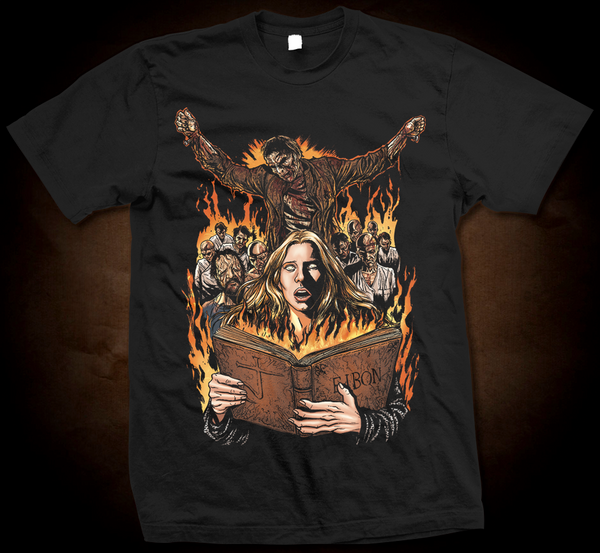 Official Grindhouse Line: The Beyond: Book Of Eibon - Gildan Thick 6 oz T-Shirt