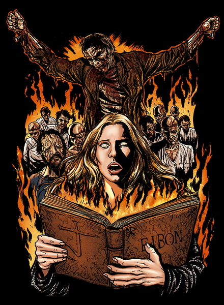 Official Grindhouse Line: The Beyond: Book Of Eibon - Hooded Sweatshirt