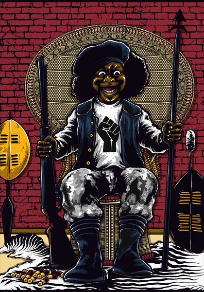 "Black Devil Doll ""Black Panther Parody"" - Gildan Thick 6 oz T-Shirt"