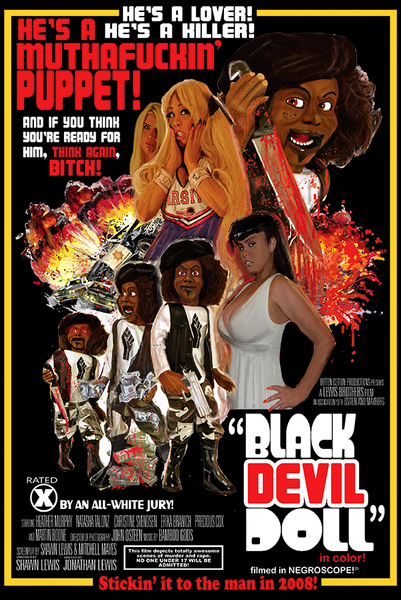Official Black Devil Doll Poster Design - Gildan Thick 6 oz T-Shirt