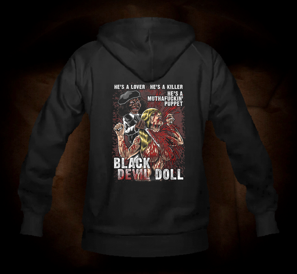 Black Devil Doll Slasher - Hooded Sweatshirt