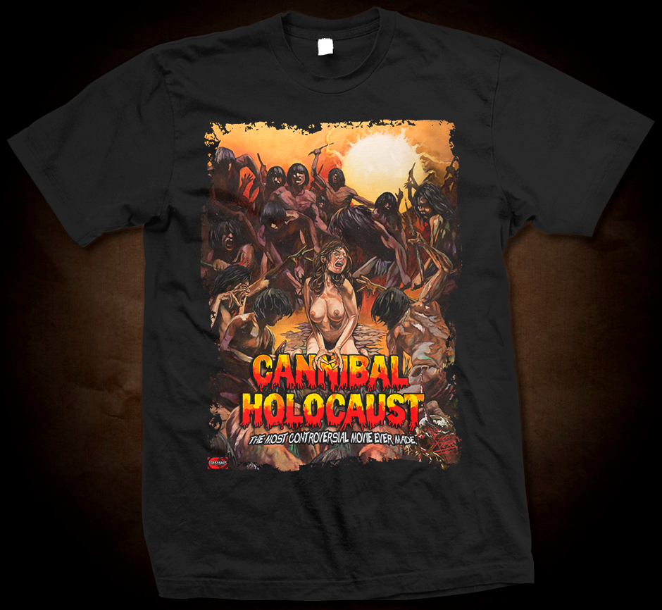 Official Grindhouse Line: Cannibal Holocaust - Design A - Gildan Soft 4.5 oz T-Shirt