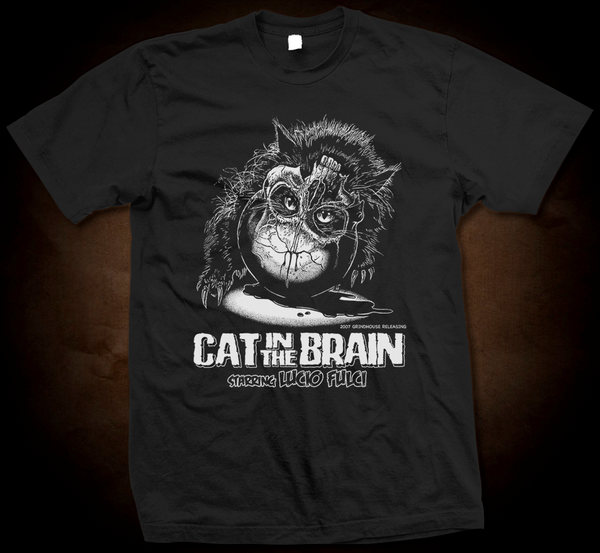 Official Grindhouse Line: Cat In The Brain Classic - Gildan Thick 6 oz T-Shirt