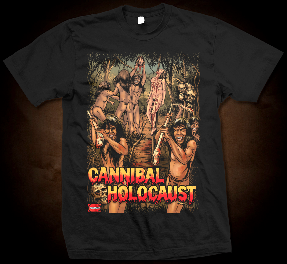 Official Grindhouse Line: Cannibal Holocaust B - Gildan Thick 6 oz T-Shirt