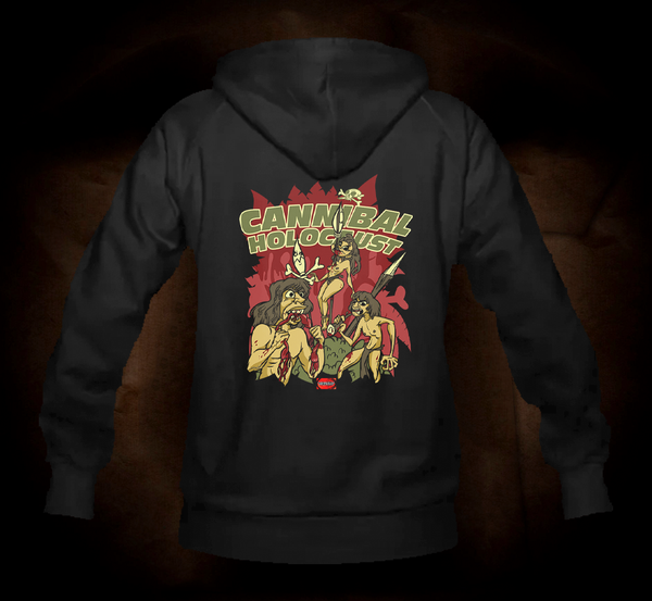 Official Grindhouse Line: Cannibal Holocaust Cartoon - Hooded Sweatshirt