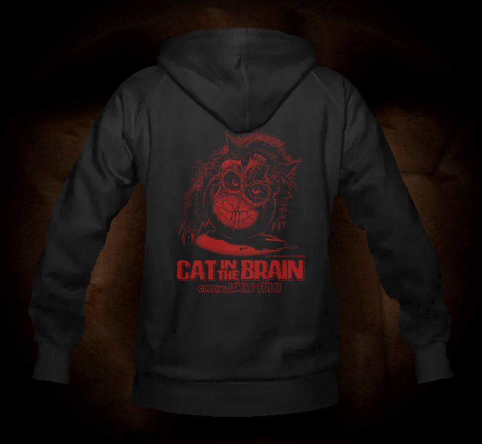 Official Grindhouse Line: Cat In The Brain - Hooded Sweatshirt