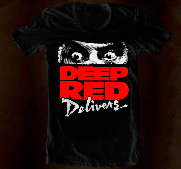 Hand Screened - Deep Red Delivers