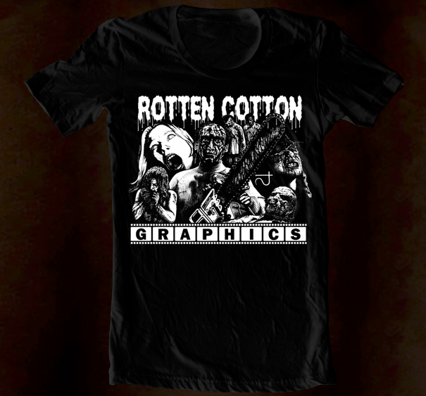 Hand Screened - Rotten Cotton Logo 3