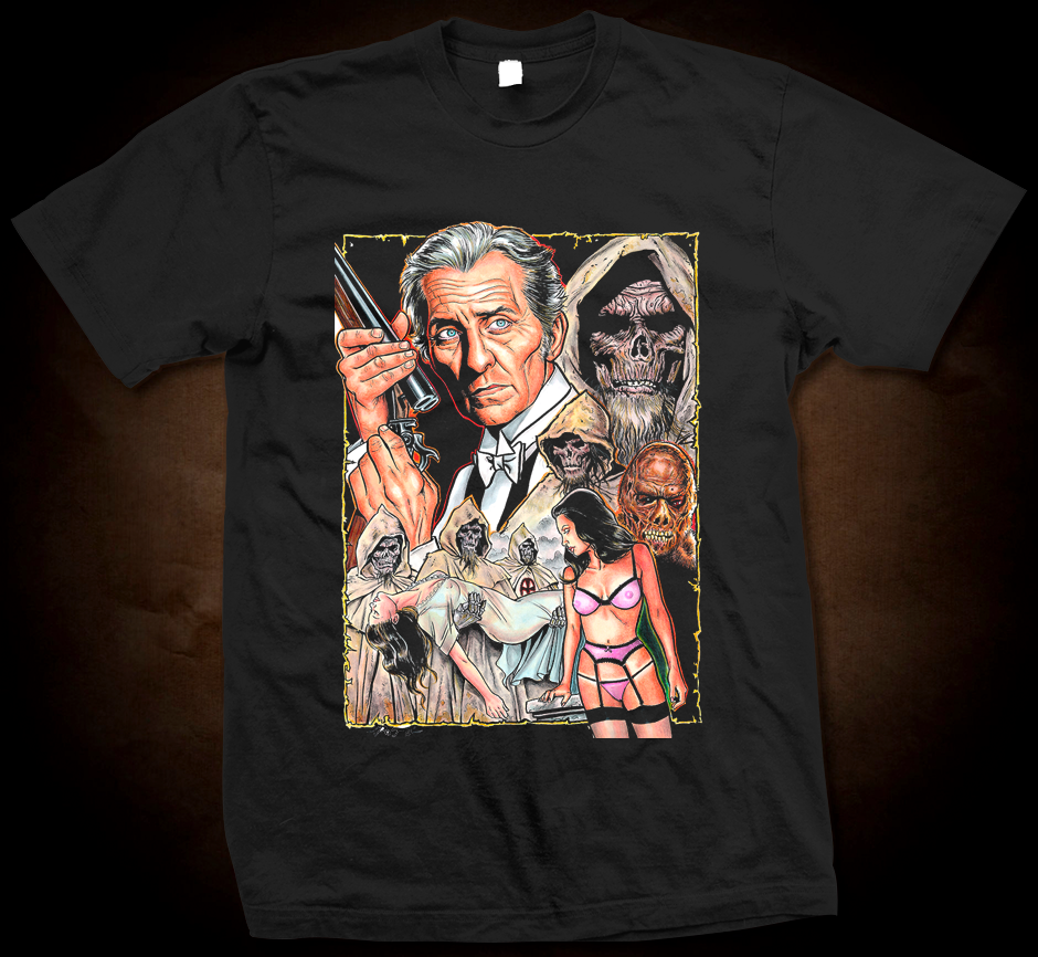 Cushing And The Curse Of The Blind Dead - Gildan Thick 6 oz T-Shirt