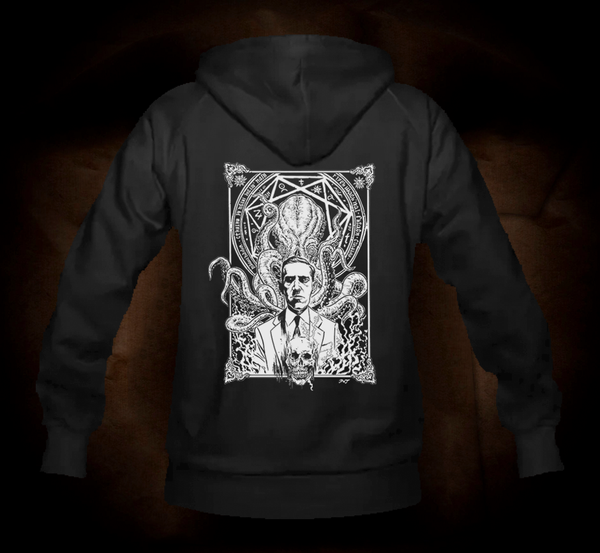 HP Lovecraft And Cthulhu One Color - Hooded Sweatshirt